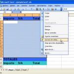 Excel Formato de celdas