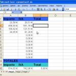 Excel con cálculo de IVA