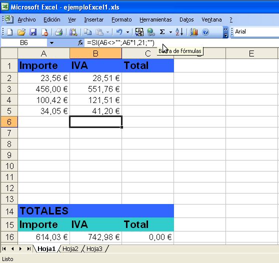 Cálculo de IVA completo
