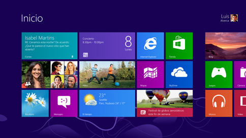 Escritorio de Windows 8