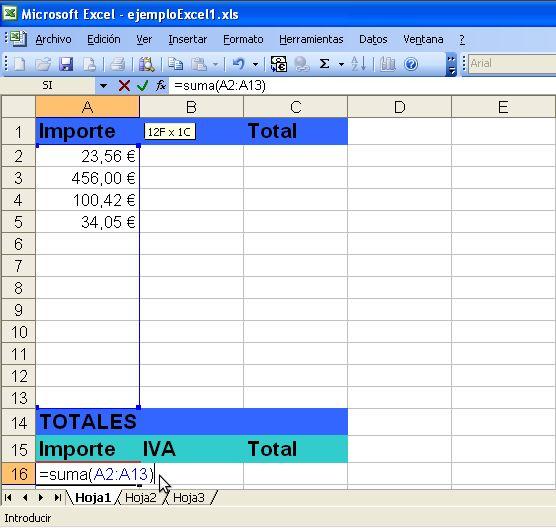 Excel Totales