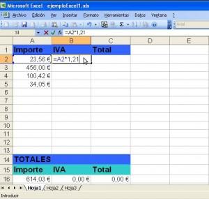 Excel Cálculo de IVA